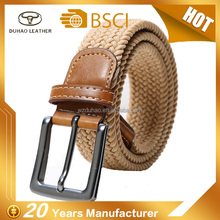Unisex Fabric Woven Waist Strap Stretch Braided Elastic Belts For Jeans