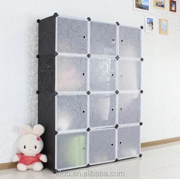 DIY Pp Plastic Material Magic Cubes Wardrobe Recycled Plastic Shelving  Corner Closet (FH AL0039