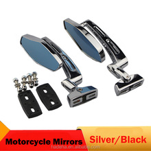 2pcs Motorcycle Mirror Black Rearview Mirrors motorbike Side Mirrors For Suzuki GSXR 600 750 1000 1300 Hayabusa