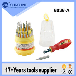 Professional Mini 31 in 1 Magnetic Precision Tool Screwdriver Set 31 Driver Head Bits Phillips Slotted