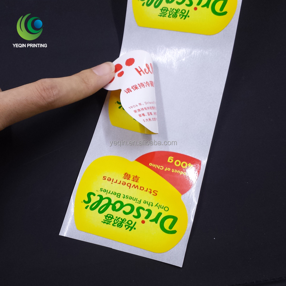 Cheap double sides printed label roll double face sticker printing