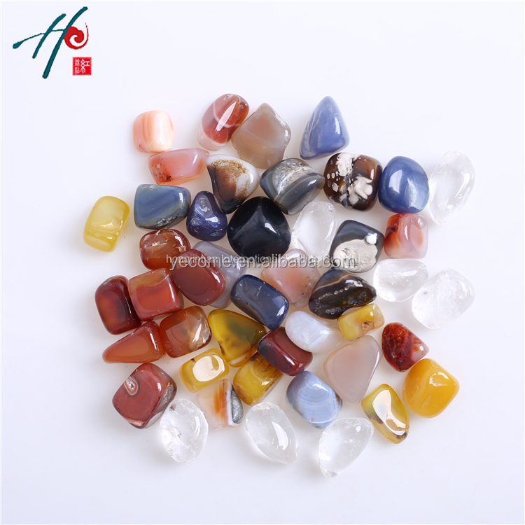 Natural Rock Crystal Tumbled <strong>Stones</strong> Mix Agate In Semi-precious Gemstone