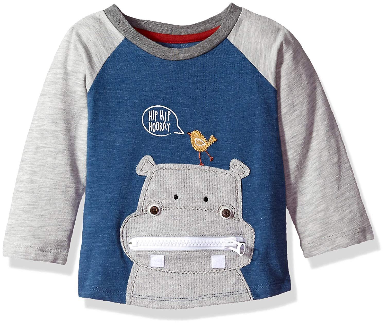 8163beb3d35a Get Quotations · Mud Pie Baby Toddler Boys' Safari Long Sleeve Raglan  T-Shirt