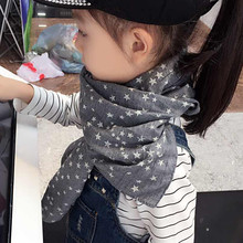 New brand autumn Winter Star Chirldren cotton scarves Baby scarf Boys and girls Kids cute shawls and scarves
