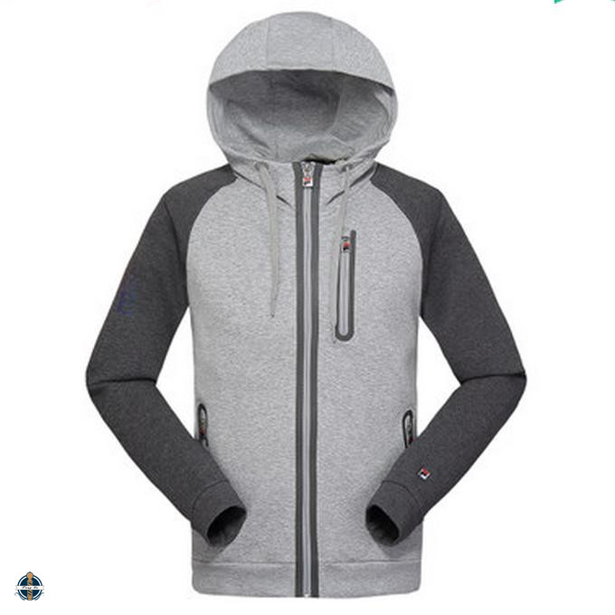 T-MH536 Fashion Cotton Jersey Zip Up Men Slim Fit Hoodies