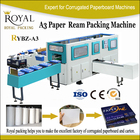 Rybz-a3 papier d'emballage machine cutted feuille A3 machine d'emballage