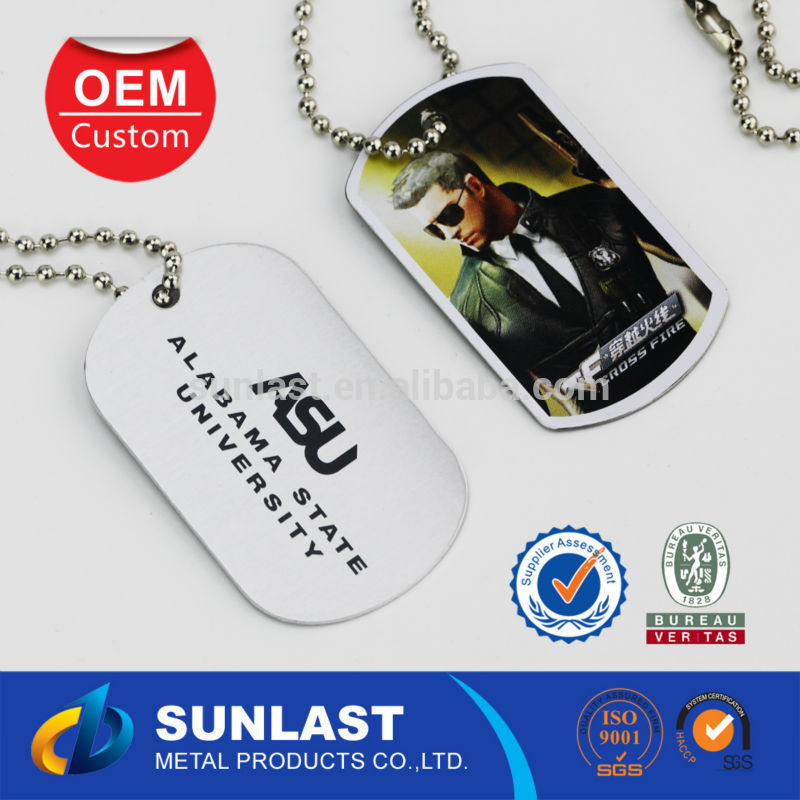 Sunlast custom sex animal dog tag anodized aluminum dog tag with full print OEM6055