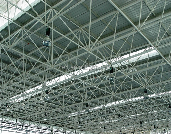 Lightweight steel canopy roof truss low cost prefab warehouse