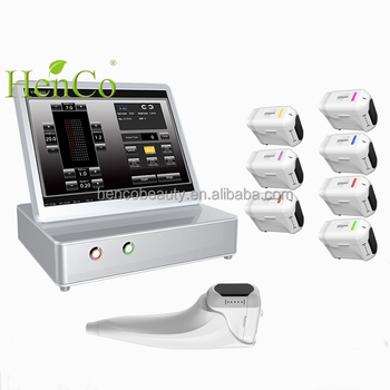 Beauty Salon Using Wrinkle Removal Facial Lifting 3D HIFU Machine for Skin Care