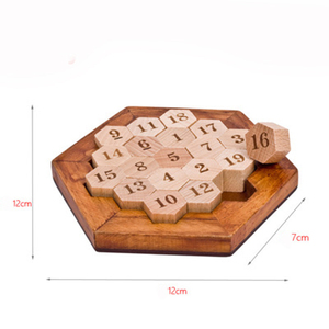 Digital platter Classical educational toy honeycomb chess adult brain wooden chess board game