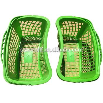 Finely model shopping basket(DN-20) Fancy folding cloth basket - (EPPC) (L300 x W200 H150mm) Factory Price Plastic Single Handle
