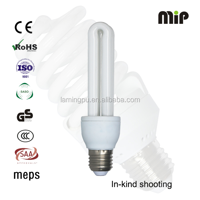 2U 15W B22 Energy saving bulb