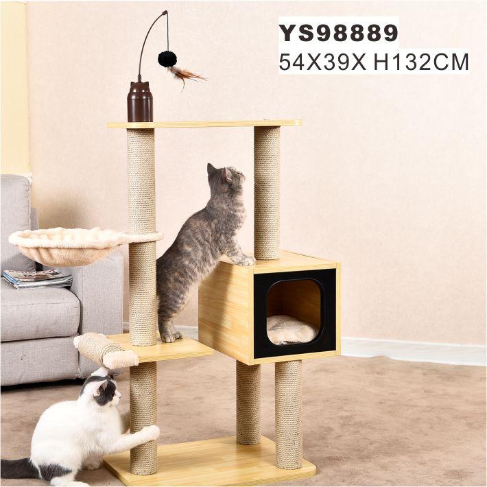 Hiện đại Phòng Pet Leo Núi Chơi Đồ Nội Thất Nhà Gỗ Vật Nuôi Mèo Cây Tháp Khu Căn Hộ