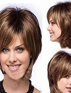 Wigs have an attractive convenience fashion Woman's Short Brown Straight Synthetic Mix Wigs