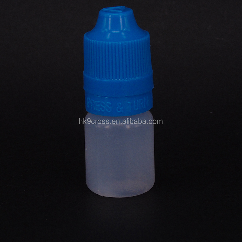 5ml 10ml mini empty plastic bottles for eye drops with Screw cap