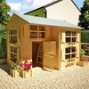 2016new design SPF or Russian pine wood outdoor wood playhouse for kids fun