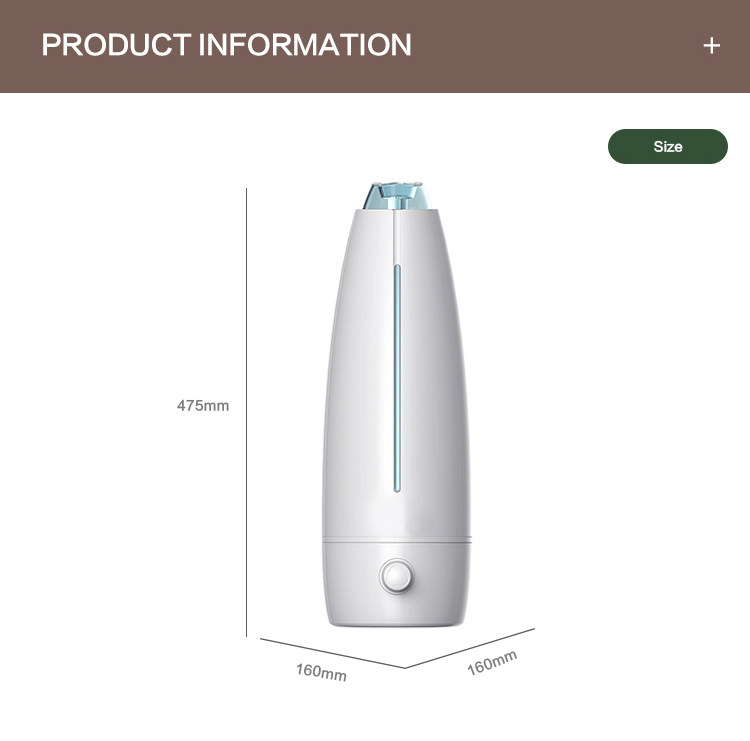Customizable Floor Standing Portable Ultrasonic Air Humidifier