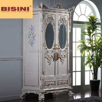 Wardrobe, European French Style Wardrobe With Mirror, Mirrored Bedroom  Wardrobe Furniture