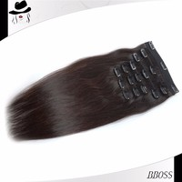 Wholesale 8 inch clip-in human hair extensions nyc no weft