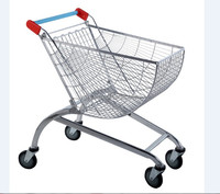 Electric Folding Wire Supermarket Shopping Cart Trolley for Sale YD-NR-80L