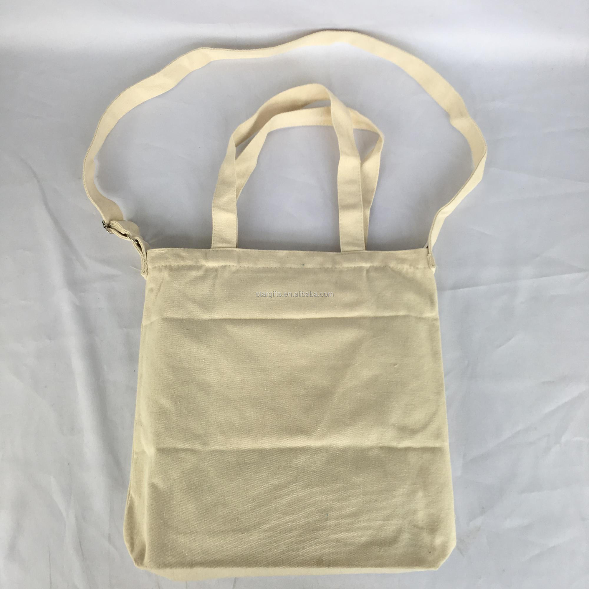 Eco 100% Cotton 12oz Canvas Recycled Material Bag With Shoulder