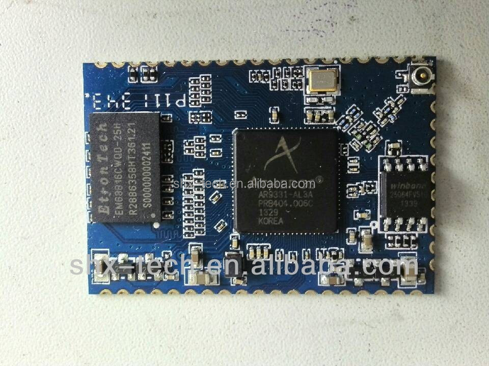 WiFi Module Atheros AP121 AR9331 with internal PA and LNA, openwrt wireless router board