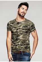 2016 sommer Mens Fashion T Shirts Camouflage Marke <span class=keywords><strong>Kleidung</strong></span> Amy Grün Kurzarm Gent Man Wear Sport T-Shirts Tops Tees
