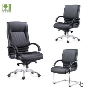Office boss leather swivel chair / PU or top leather office executive leather chairs/ Manager leather office chairs