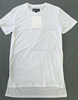 Wholesale plain fitted t shirts longline cotton t-shirt short front long back t shirts unisex white