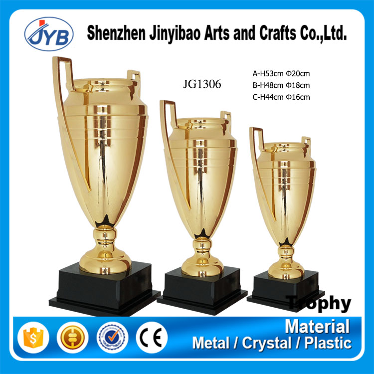 Good quality custom gold big size trophy 50cm champion gold trophy cup