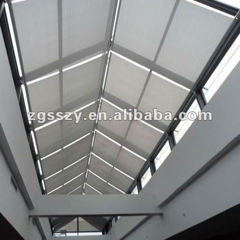 Fss scroll roof blinds roller blinds window shade roof for Exterior no chain window shade