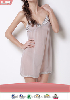 9b691dd8e8 Wholesale Fashion Summer Sexy Ladies Girls Hot Transparent Silk Night Dress  for Honeymoon