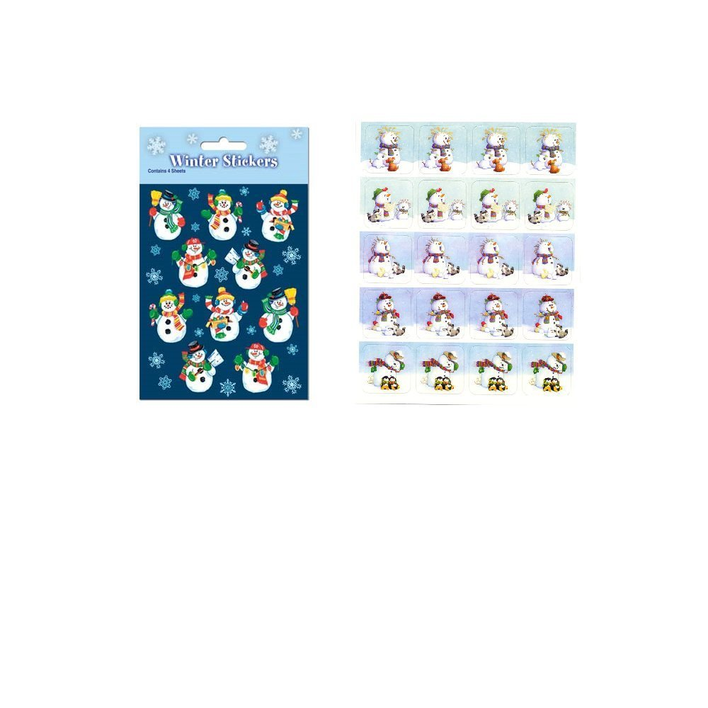 160 Adorable SNOWMAN Stickers CHRISTMAS Holiday Winter - PARTY Favors CLASSROOM Teacher Rewards MOTIVATIONAL