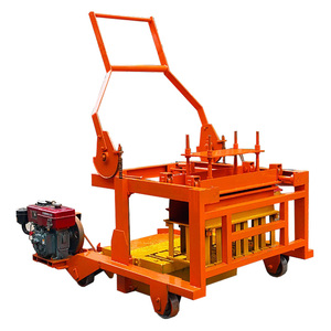 Diesel engine QCM4-30 concrete cement laying hollow wood manual german interlocking mobile block making machine in India