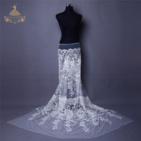 FL12 Ivory thick heavy yarn embroidery lace fabric for bridal dress
