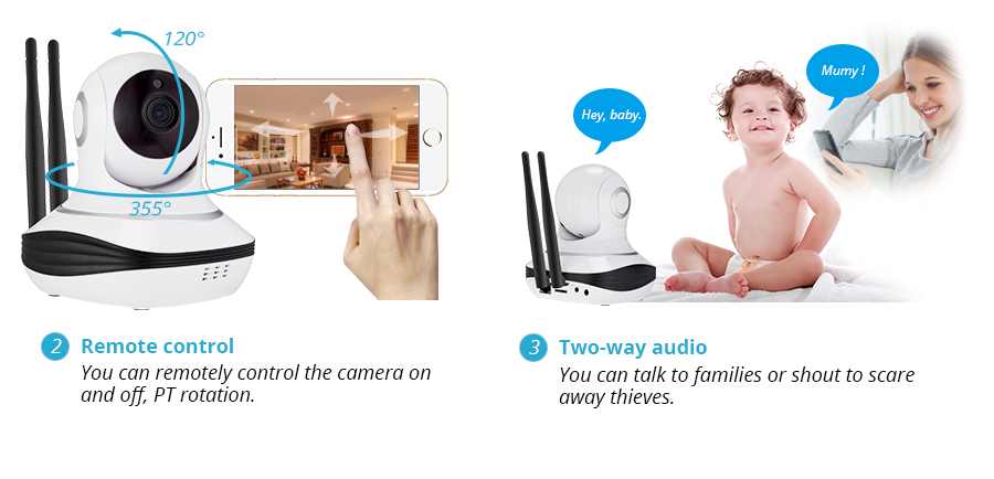 1080P Full HD Indoor Wireless Home Security WiFi Cloud Storage IP Camera Surveillance Camera Home Alarm Camera