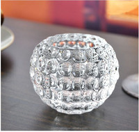 Ball shape glass vase clear glass vase decorative glass vase