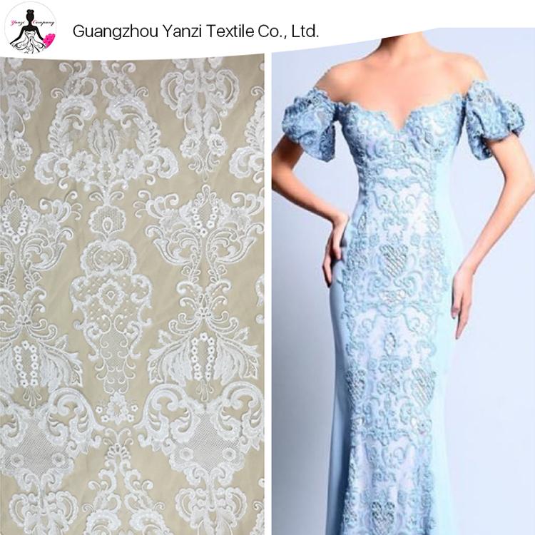 Elegant ชุดราตรีผ้าดอกไม้เย็บปักถักร้อยผ้าลูกไม้ฝรั่งเศสพ. ชุด