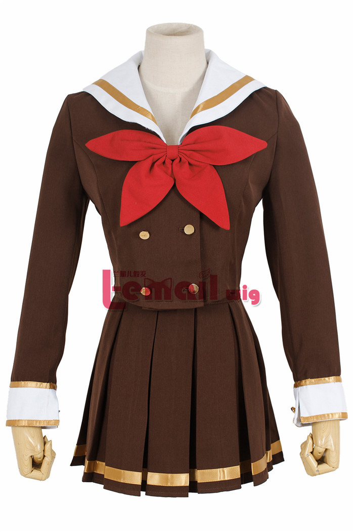 Free shipping Galaxia anime sounded Baritone Huangqian Kumiko School uniform anime cosplay costume halloween costumes for girls