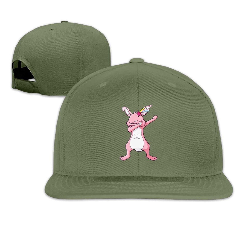 760c720feb7 Get Quotations · Caps VF5 Dabbing Rabbit Unisex Brim Trucker Hat Flat Bill Brim  Cap
