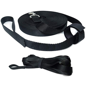 Nylon Long Dog Training Leash with Storage Strap with length of 6ft 20ft 30 ft 50ft 100ft 200ft