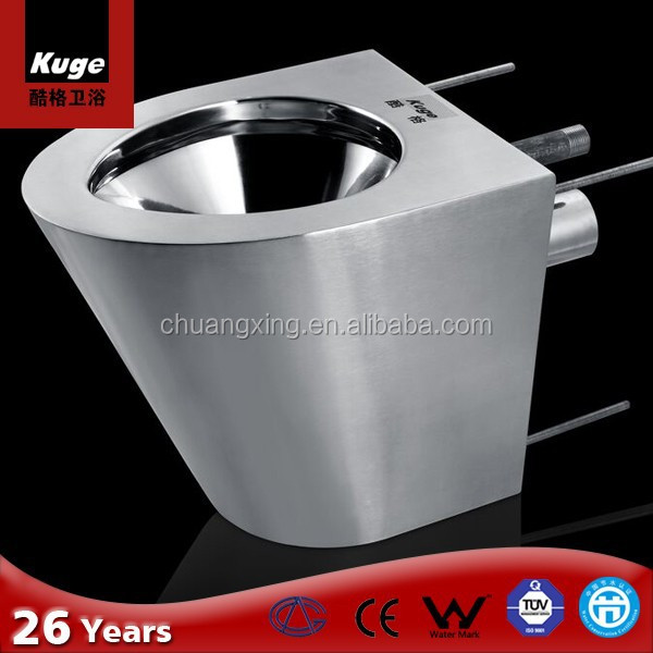 Stainless Steel WC Wall Hung Toilet for public