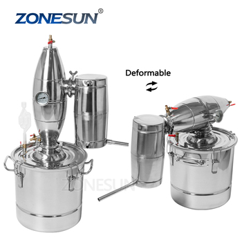 ZONESUN 30L Multifunction! Household Stainless Steel Home Wine Brewing Device Alcohol Distiller Distillation English Manual