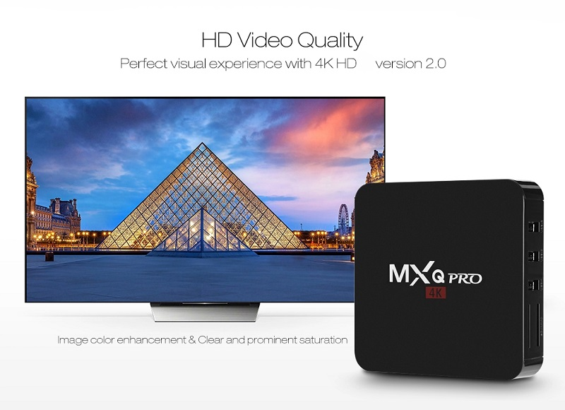 1gb 8gb MXQ PRO 4K Android TV Box Allwinner H3 Android 7 1