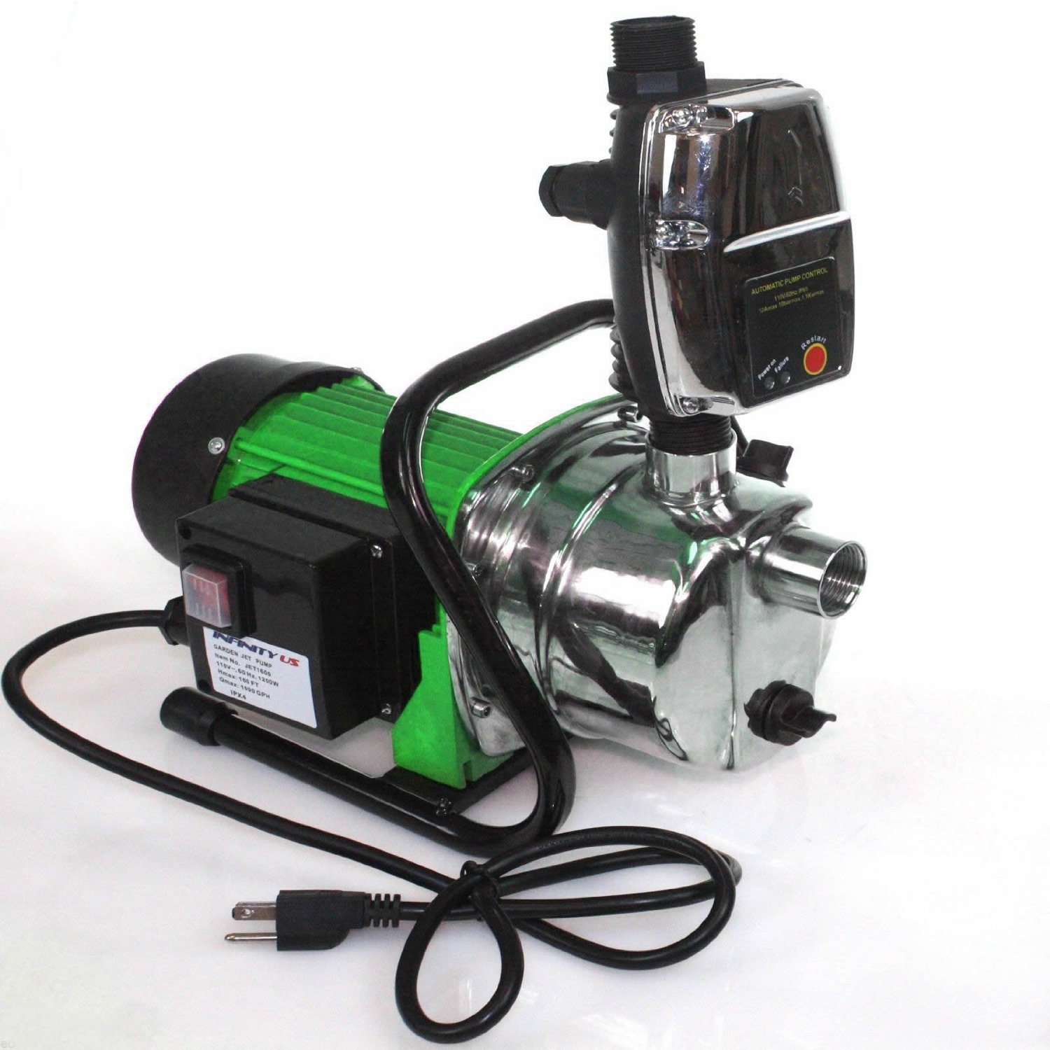 Combo 1.6 Hp 1200w Jet Shallow Water Well Booster Pump W/ Pressure Controller