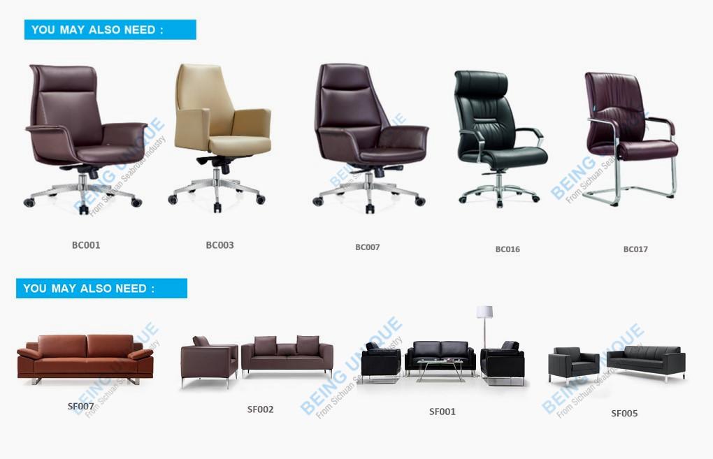 Forma di L di modo di lusso ufficio cabina Durevole bordo della melammina L a forma di computer da ufficio tavolo di disegno con il lato scrivania