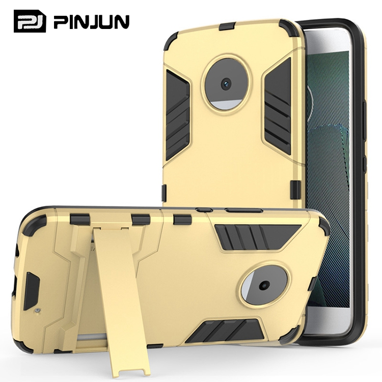 Iron man armor rugged shockproof kickstand case for moto x4,for moto x 4th gen back cover