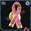 pink ribbon metal badge,red ribbon metal badges,made metal badges