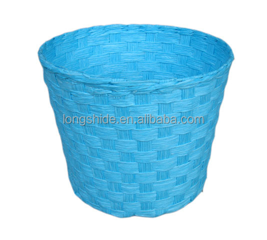 new arrived popular cheap wholesale handmade paper woven tapered basket