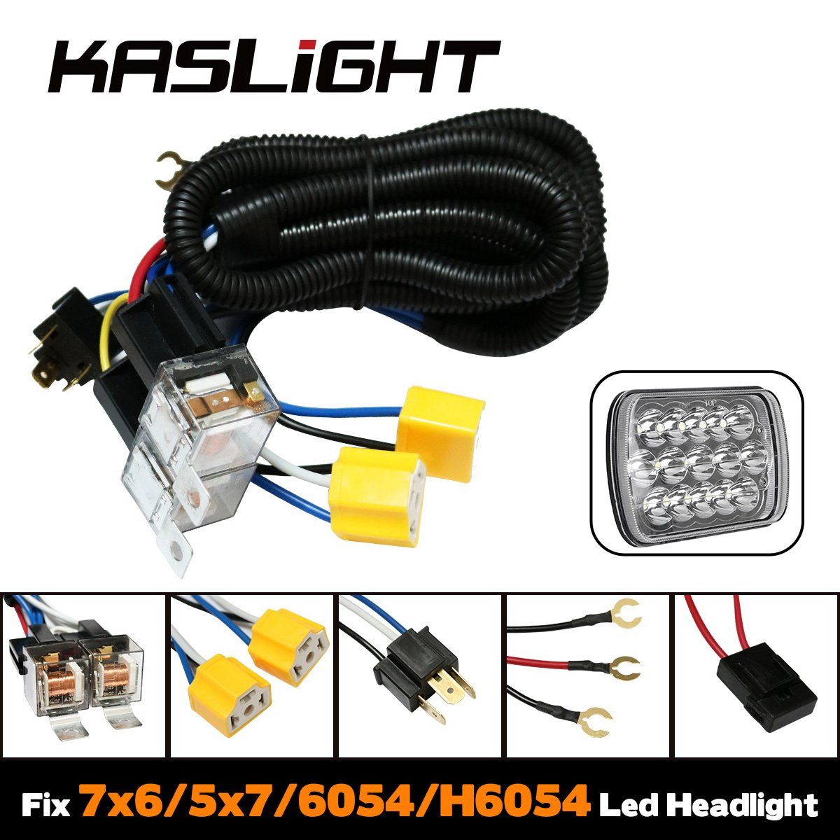 1set 2-headlights h4 headlight relay harness ceramic socket 1992 toyota  pickup led headlight harness